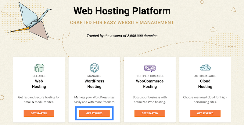 Create a WordPress site with SiteGround.