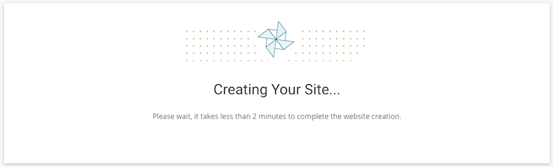 Creating a WordPress site with SiteGround.