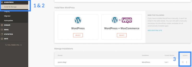 SiteGround logging in WordPress