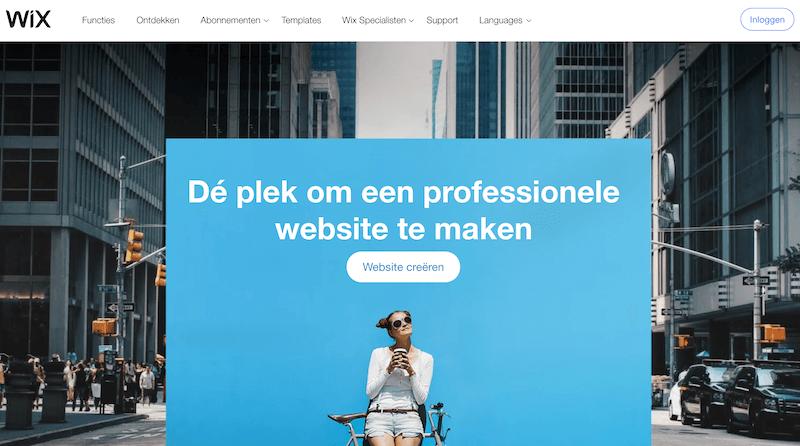How to make a Wix website.
