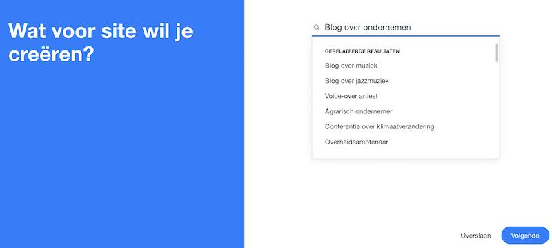 Make a Wix website through AI.