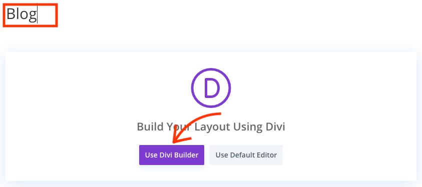 Use de Divi builder.