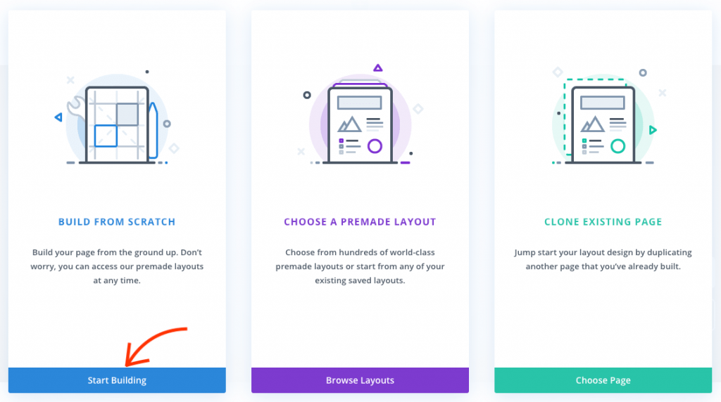 Build a Divi page from scratch.