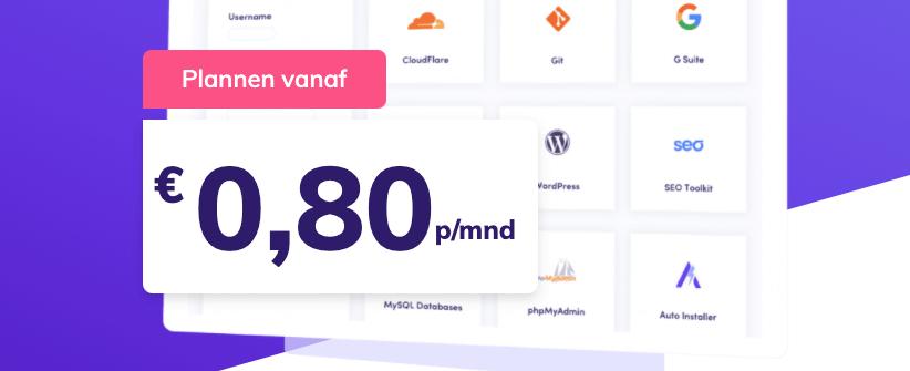 Hostinger is verkrijgbaar vanaf 0,80 euro per maand.