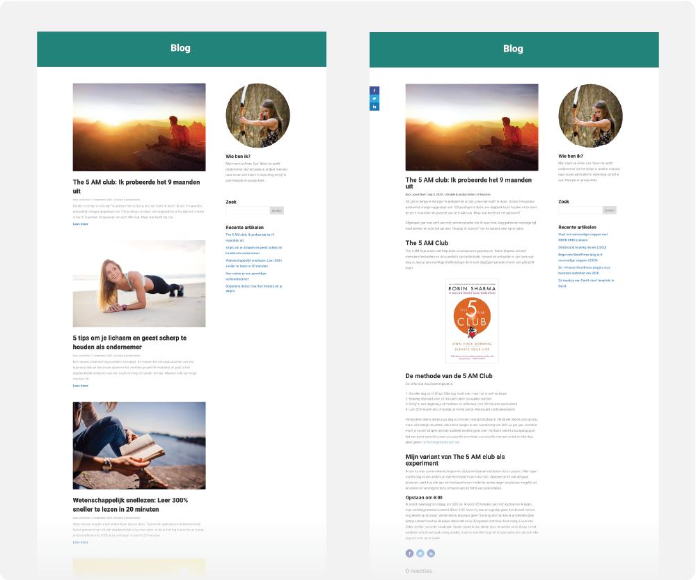 Divi blog design WebsiteGecko tutorial.