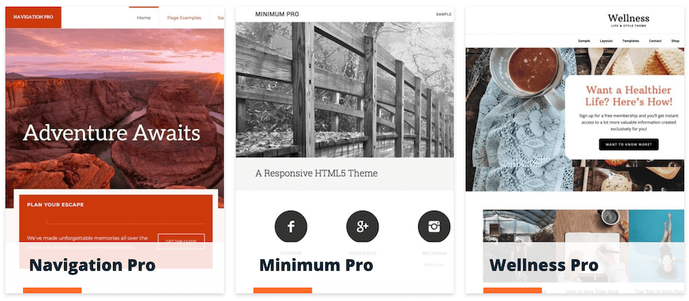 StudioPress themes.